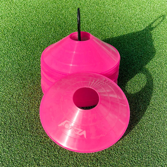 Pink Football Training Marker Cones